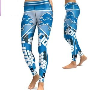 Pants - DETROIT LIONS LEGGINGS - SMALL